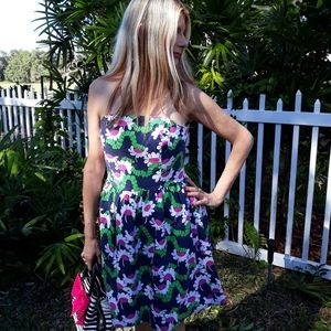 Lilly Pulitzer strapless Daisy dress size 10